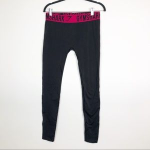Gymshark Solid Gray/ Pink Band Leggings